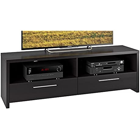 CorLiving TFB 308 B Fernbrook TV Stand In Black Faux Wood Grain Finish For TVs Up To 70