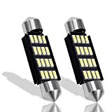 Boodled 4X Extremely Bright 41mm 16-SMD Festoon 4014 Chipsets Canbus Error Free 569 578 211-2 212-2 LED Bulbs Super White(4xSJ-4014-41MM-16)