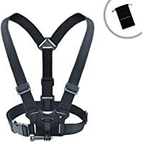Camera Chest Strap Harness Mount with Tripod Adapter by USA Gear - Works with Canon PowerShot SX620 HS , Nikon Coolpix A900 , Olympus Tough TG-4 & More Point-and-Shoot Cameras or Action Cameras
