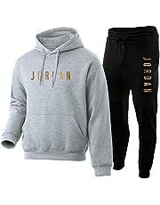 NFNF Men's Tracksuits Full, Jordan Hoodies and Sweat Pants,Sweatshirt and Pants 2 Piece Sets