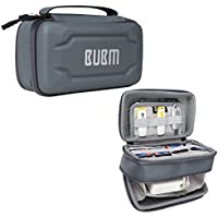 BUBM Eva Electronic Accessories Organizer Case, Travel Gadget Bag with Handle, Perfect for Cables, USB Drives, Batteries, memory cards (Double Layer Gray)