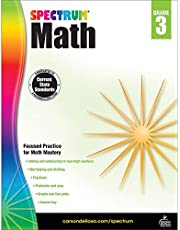 Spectrum Third Grade Math Workbook – Multiplication, Division, Fractions Mathematics With Examples, Tests, Answer Key for Homeschool or Classroom (160 pgs)