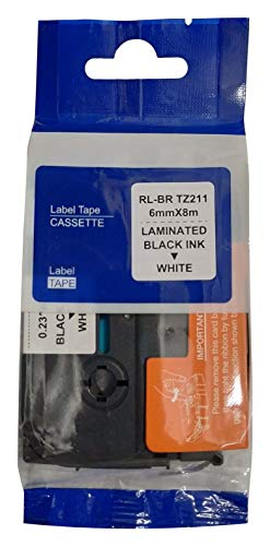 BROTHER COMPATIBLE TZE 211 Tape Black On White - 6 mm (B07V1F421S) Amazon Price History, Amazon Price Tracker