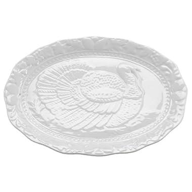 HIC Porcelain Turkey Platter, 17.5-inch