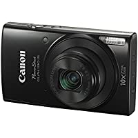 Canon PowerShot ELPH 190 IS with 10x Optical Zoom and Built-In Wi-Fi - Black (CERTIF1ED REFURBISHED)