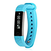 Efanr M1 Micro-K Smart Band Bracelet Watch Bluetooth Smartband Smartwatch Wristwatch Pedometer Fitness Activity Tracker Heart Rate Monitor for iPhone IOS Android Smartphones (Blue)