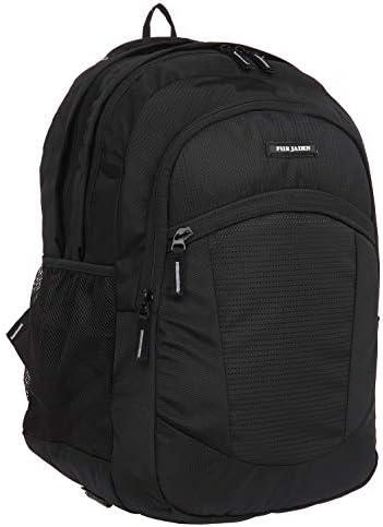 Fur Jaden 15.6 Inch Laptop Backpack 38 LTR Large Bagpack for Men for Office, School Bag for Students (Black)