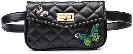 Womens Elegant Leather Fanny Pack Cute Waist Pouch Stylish Travel Cell Phone Bag