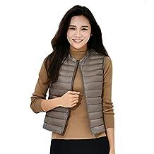 KUKI SHOP Women's Packable Down Jacket Ultra Light Coat Puffer Vest Gilet Winter