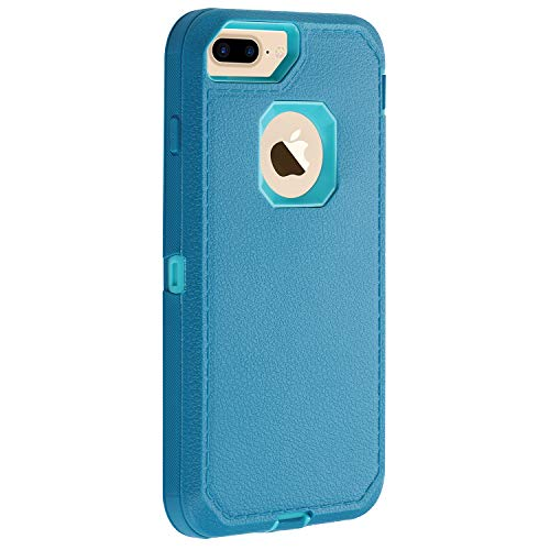 "Co-Goldguard Case for iPhone 7 Plus /8 Plus, [No Screen Protector ] Heavy Duty Durable 3 in 1 with Screen Bumper Protective Cover Shockproof Drop-Proof Non-Slip Shell for iPhone 7+/8+ 5.5"",Blue"