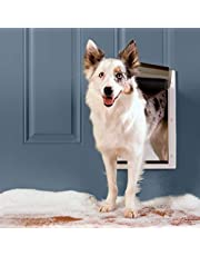 PetSafe Extreme Weather Energy Efficient Pet Door, Unique Three Flap System, White, for Medium Dogs Up to 18 kg