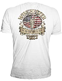 Official Men's Southern Rebel Skull Graphic Short Sleeve Cotton T-Shirt