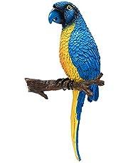 kitchnexus 30cm Montado en la pared Parrot Ornament Scarle Guacamayo & Parakeets jardín decoración