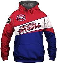 Men's Hooded 3D Digital Print K Series Montreal Canadiens Color Patchwork Pullover Hoodies Sweatersh