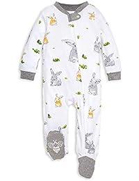 Unisex Sleep & Play, Organic Pajamas, NB - 9M One-Piece Zip Up Footed PJ Jumpsuit