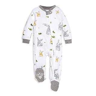 Burt's Bees Baby - Unisex Sleep & Play, Organic Pajamas, 3-6M One-Piece Zip Up Footed PJ Jumpsuit