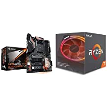 GIGABYTE X470 AORUS Ultra Gaming (AMD Ryzen AM4/ X470/ USB 3.1 Gen 2 Front Type C/ATX/ DDR4/ Motherboard) and AMD Ryzen 7 2700X Processor with Wraith Prism LED Cooler