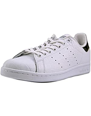 Stan Smith Youth Round Toe Leather White Sneakers