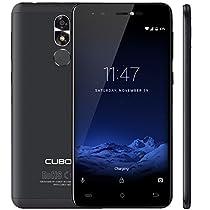 CUBOT R9 In Offerta Smartphone Ultra Sottile 5 Pollici Touch Display, Android 7.0 Telefono Cellulare, 2GB + 16GB, 13MP Fotocamera Posteriore 5MP Fotocamera Frontale, Sensore dell'Impronta Digitale 0.1s, Supporto GPS, Bluetooth Nero [CUBOT UFFICIALE]