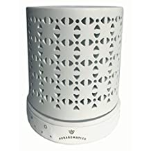 Puraromatics Aromatherapy Essential Ceramic Oil Diffuser Ultrasonic Cool Mist Humidifier with 7 Color LED Lights & Waterless Auto Shut-off BPA Free, 200ml with 4 Timer Settings. Won't leak, will mist!
