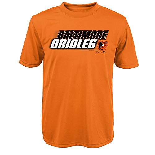 "MLB Baltimore Orioles Youth Boys 8-20 ""Kinetic Team & City"" Tee-XL (18), Orange"