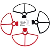 Youzone Removable Propellers Prop Protectors Guard Bumpers For DJI Phantom 1 2 3 Black&Red