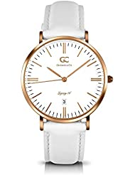 Gelfand & Co. Womens Minimalist Watch White Leather Catherine 36mm Rose Gold with White Dial