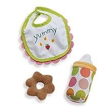 """Manhattan Toy Wee Baby Stella Feeding Set Soft Baby Doll Accessory for 12"""" Dolls"""
