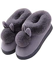 Scucs 2021 Sonbahar Kış Pamuklu Terlik Tavşan Kulak Ev İç Mekan Terlikleri Kış Sıcak Ayakkabı Kadın Şirin Artı Pelüş