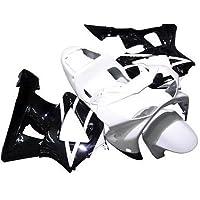Black/White Complete Injection Fairing Kit for 2000 2001 Honda CBR 900RR 929