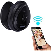 Mini Wireless Camera, UOKOO Home WiFi IP Security Surveillance Camera System with Motion Email Alert Black