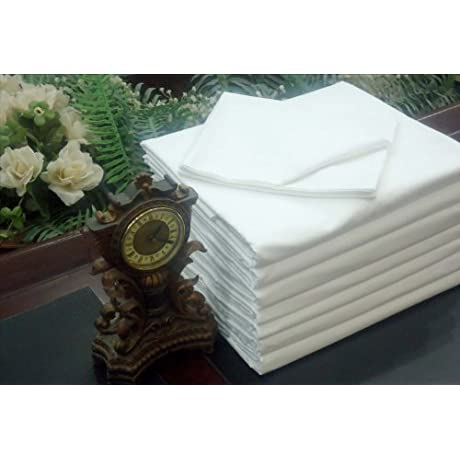 24 King XL Flat Sheet White T 180 Percale Hotel Linen Available In Bulk Dozens