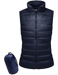 Women Down Vest Packable Lightweight Outerwear Coat Jacket Puffer Vests