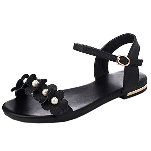 on sale d4965 fd389 RAZAMAZA Women Summer Sandals Flower Beads Flat Flat Flat Shoes Parent  B06ZZQS7S2 ebf55f