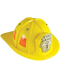 Jr. Firefighter Helmet, Yellow, Adjustable Youth Size