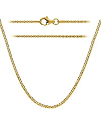 18k Gold Plated 1.6mm Italian Sterling Silver Popcorn Chain Necklace Available in 12 - 36 inch