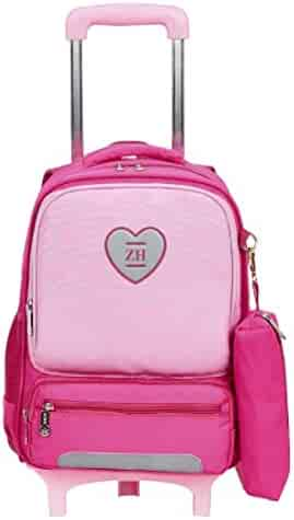 Color : Pink BHDYHM Schoolbag Female Korean Harajuku High School Personality Corduroy College Wind Backpack