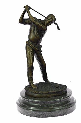 …Handmade…European Bronze Sculpture Ben Hogan Male Golfer Sports Memorabilia Golf Club Art Pga Marble (YRD-890) Bronze Sculpture Statues Figurine …