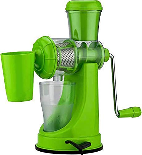 MYYNTI Vegetable and Fruit Juicer Unbreakable Hand Juicer with Steel Handle Vacuum Locking System, Juice Maker Machine for Home Kitchen Travel (Green)… Price & Reviews
