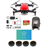 DJI MAVIC Air Combo Flame Red - Bundle With 64GB Micro SDXC U3 Card, Hard Case Backpack, FS62 Mavic Air Multi-coated 4K Camnra Lens Filters 4-Pack, Care Refresh Mavic Air