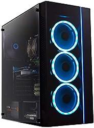 Periphio Gaming Desktop Computer Tower PC, Intel Quad Core i5 3.1GHz, 8GB RAM, 128GB SSD + 1TB 7200 RPM HDD, Windows 10, GeF