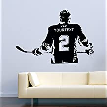 USA Decals4You | Sport Wall Decals Hockey Player Personalized Custom Name Decor Stickers Vinyl MK0584