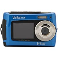 Vivitar 14 Megapixel Dula Screen Waterproof Digital Camera with 2.7-Inch LCD Screen (Blue) VF526