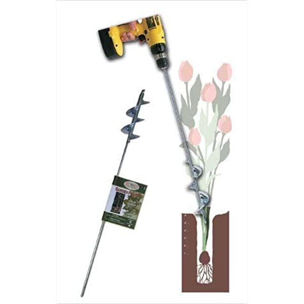 2x24, Black SETROVIC Auger Drill Bit for Planting Bulbs Garden Drill Planter Drill Auger Bulb /& Bedding Plant Auger for 24 Long 2 Wide Helix Hex Drive Drill Earth Auger Drill Post Hole Digger