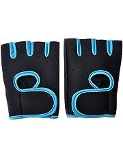 قفازات نصف اصبع للجيم وممارسة الرياضة من برو هانسون، أسود/أزرق، 2XL