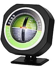 Car Inclinometer Level Car Compass Clinometer Indicator, Car Vehicle Inclinometer Stick Outdoor Luminous LED Car Angle Slope Meter Balancer Measure Equipment