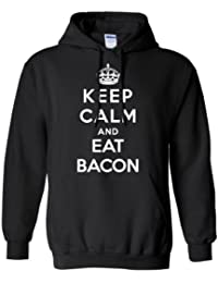 Adult Keep Calm and Eat Bacon Hoodies