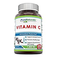 Pure Naturals Vitamin C, 1000 mg 250 Tablets -Supports Immune Function* -Supports...
