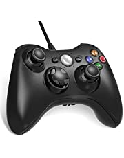 Diswoe USB Controller für Xbox 360, Xbox 360 Wired Controller, Verbessertes ergonomisches Design USB Wired Gamepad Joystick für PC/Xbox 360 (Windows XP/7/8/10)