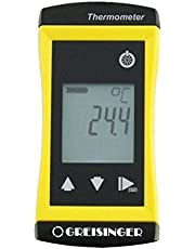 GHM Greisinger G1710 exakt universell termometer med fast ansluten dykgivare, Ø 3 mm, gul